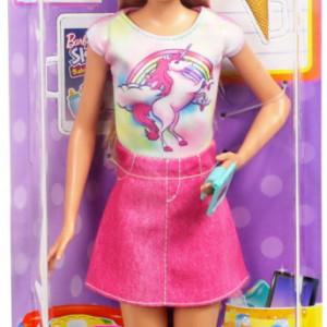 Set Mattel de Joaca Papusa Barbie Blonda Skipper Babysitter