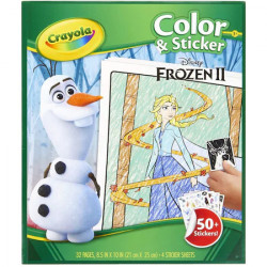 Carte de colorat si abtibild-uri din filmul Frozen, Crayola