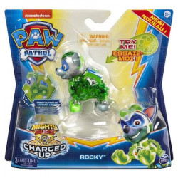 Figurina luminoasa Paw Patrol - Charged Up, Rocky