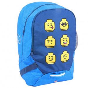 Ghiozdan LEGO Faces - Albastru