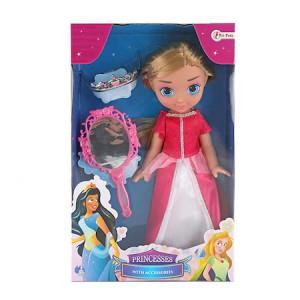 Papusa bebelus printesa, Toi-Toys, Princess friends, alb/roz