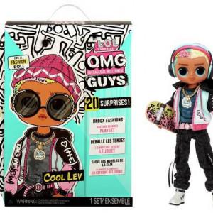 Papusa L.O.L. Surprise! OMG Guys Doll - Cool Lev cu 20 surprize, seria 4
