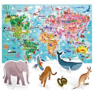 Puzzle Headu Teacher Tested - Turul lumii, 108 piese