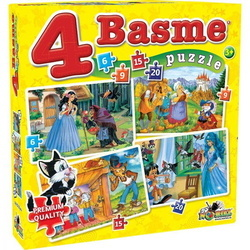 Puzzle Noriel 4in1 Basme Mici-6,9,15,20piese