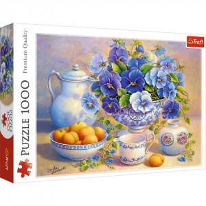 Puzzle Trefl, Buchet albastru, 1000 piese