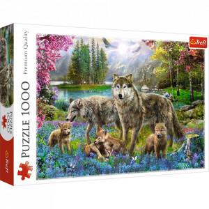 Puzzle Trefl, Familie de lupi, 1000 piese