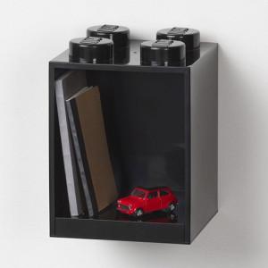 Raft Caramida LEGO 2x2 - Negru