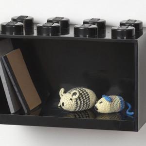Raft Caramida LEGO 2x4 - Negru
