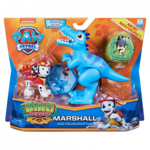 Set 2 figurine Paw Patrol Dino Rescue, Marshall si Velociraptor