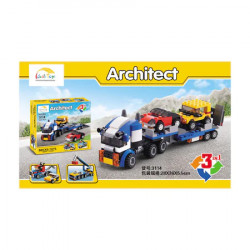 Set constructii 3 in 1 camion, 264 piese, Multicolor