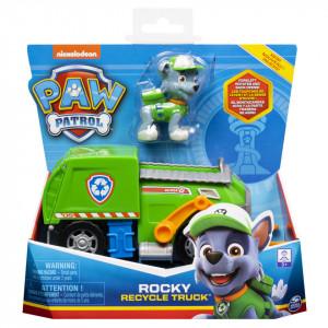 Set figurina cu vehicul Paw Patrol - Rocky, Masina de reciclat