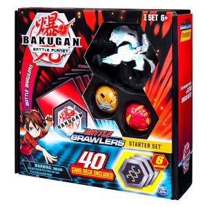 Set începător Bakugan cu 3 piese - Haos Howlkor, Dragonoid, Aurelus Pegatrix