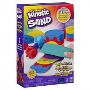 Set Kinetic Sand - Curcubeu cu accesorii, 383g