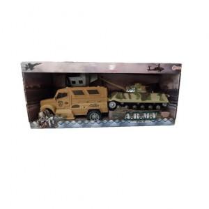 Set Militar Frictiune cu 2 Vehicule Toi Toys