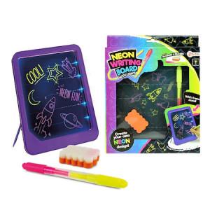 Tabla de colorat neon cu marker + burete