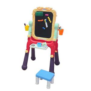 Tabla de Scris,Magnetica cu 2 Fete,Scaun, Carioci si Burete de Sters,Multicolor