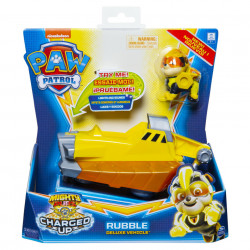 Vehicul Paw Patrol - Charged Up, Rubble, cu lumini si sunete