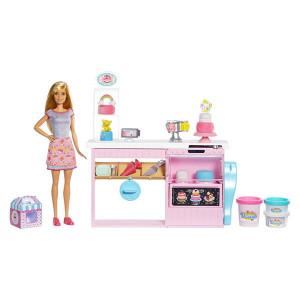 Set de joaca Papusa Barbie si atelierul de Cofetarie