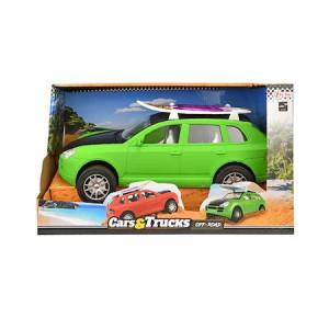Masina friction cu placa de surf, Toi - Toys, verde