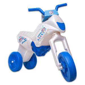 Motocicleta fara Pedale pentru Copii,Sidef Alb/Albastru