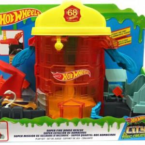 Pista de masini Hot Wheels City Super Fire House Rescue
