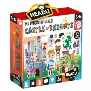 Puzzle Headu Teacher - Castelul cavalerilor, 72 piese