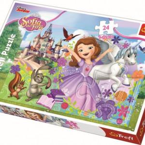 Puzzle Maxi Trefl, Disney Sofia, Lumea colorata a printesei, 24 piese