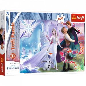 Puzzle Trefl 200piese Frozen 2 - Universul Magic