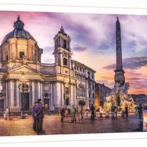 Puzzle Trefl, Panorama Piata Navona din Roma, 500 piese