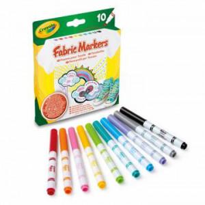 Set 10 markere Crayola pentru colorat pe materiale textile