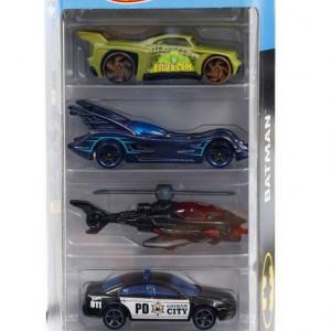 Set 5 masinute Hot Wheels, Batman