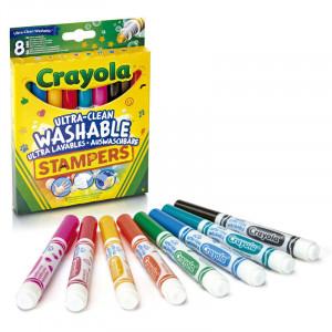 Set 8 Markere cu Stampile Crayola,Lavabile,multicolor