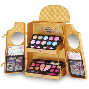 Set de infrumusetare CRA Z ART Shimmer and Sparkle, machiaj pentru fetite in ghiozdan Auriu