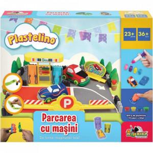 Set de joaca Plastelino - Parcarea cu masini