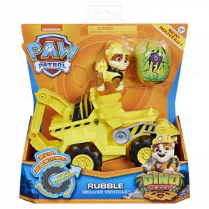 Set Figurina cu Vehicul,Paw Patrol,Rubble,Dino Rescue