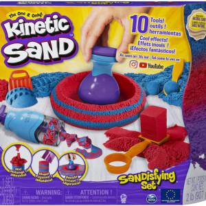 Set Kinetic Sand - Sandtastic, albastru si rosu, 907g
