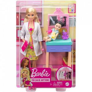 Set Papusa Barbie Medicul Pediatru