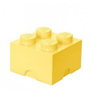 Cutie depozitare LEGO 2x2 galben deschis