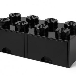 Cutie depozitare LEGO 2x4 cu sertare, negru