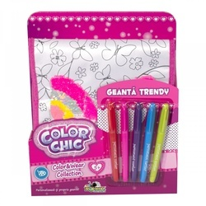 Geanta Trendy Noriel cu Paiete Reversibile-Color Chic