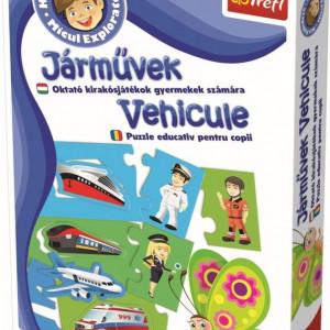 Joc educativ Trefl, Micul explorator, Vehicule