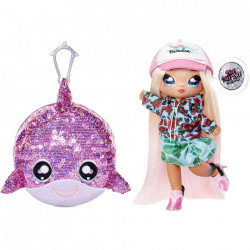 Na Na Na Surprise 2 in 1, Sparkle S1 - Papusa si accesoriu fashion, Krysta Splash