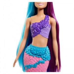 Papusa Barbie Dreamtopia-Sirena cu Par Lung