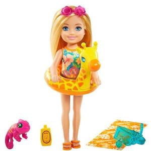 Papusa Mattel Barbie Chelsea cu 6 accesorii, par blond