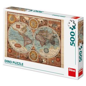 Puzzle Dino 500 piese - Harta Lumii Antice