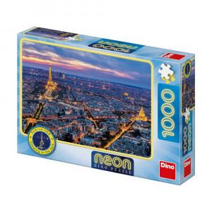 Puzzle Dino Parisul Noaptea-1000 piese Neon