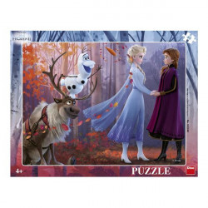 Puzzle Dino pe Placa Frozen 2 - 40 piese