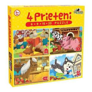 Puzzle Noriel 4in1 Prieteni Mici-6,9,15,20piese