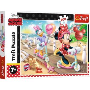 Puzzle Trefl, Disney Minnie Mouse, Distractie La Plaja, 200 piese
