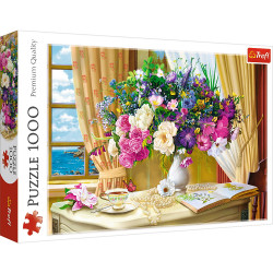 Puzzle Trefl - Flowers in the Morning, 1.000 piese